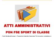 ATTI AMMINISTRATIVI_PON SPORT DI CLASSE